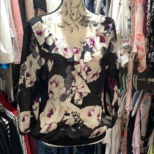 White House Black Market floral blouse
